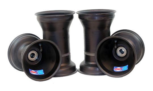 "Aluminium Wheel Set, 5"" x 135mm (17mm) & 5"" x 7.75"" (Metric Mount)"
