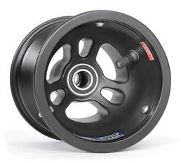 """Vented Spindle Mount Front Wheel, 5"""" x 130mm, 17mm bearing (Black)"""