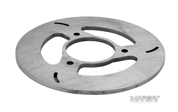 "Mini Lite Steel 3 Bolt Brake Rotor (6"" x 3/16"")"