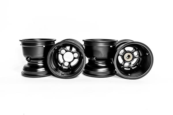 "TruSpeed Magnesium Wheel Set, 5"" x 130mm & 5"" x 180mm (Metric Mount)"