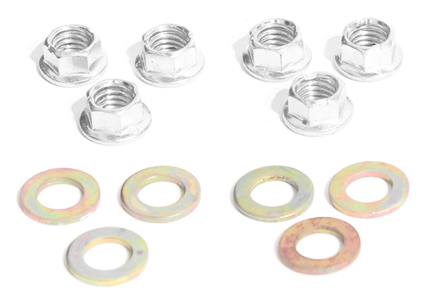 M8 flange nut & washer pack, 6pc pack