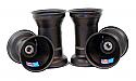"Aluminium Wheel Set, 5"" x 135mm (17mm) & 5"" x 7.75"" (Metric Mount) Black"