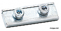Throttle cable clamp, double screw