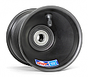 "Spindle Mount Front Wheel, 5"" x 5"", 17mm bearing (Black)"
