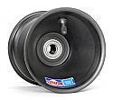 "Spindle Mount Front Wheel, 5"" x 5"", 17mm bearing (Black)"
